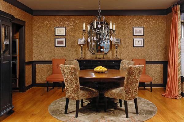 Пробковое покрытие в дизайне гостиной