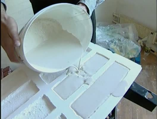 Процесс изготовления гипсового декоративного кирпича