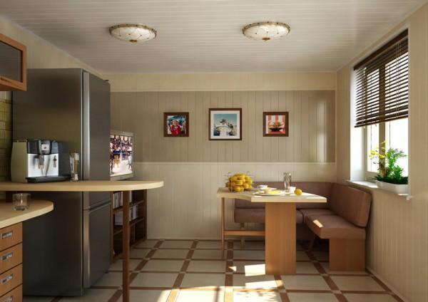ПВХ-сайдинг в отделке кухни