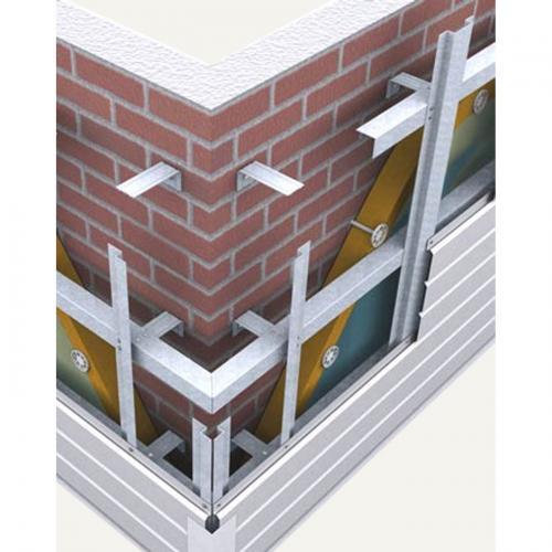 Схема обшивки утепляемого фасада
