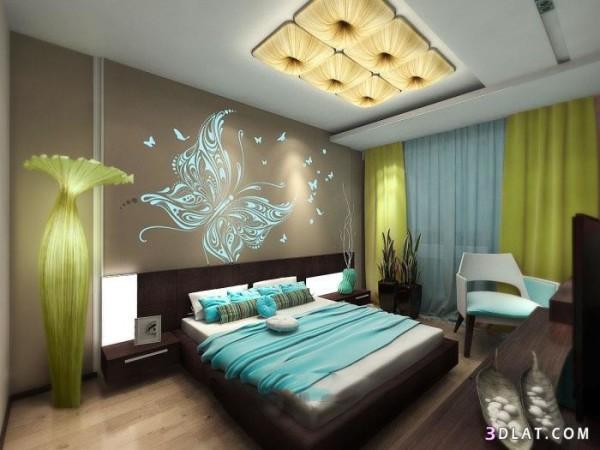Современная отделка комнаты спальной