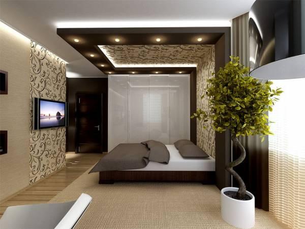 Спальня в комнате-студии