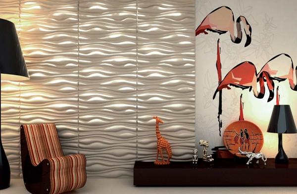 Стеновые 3d панели для внутренней отделки из алюминия