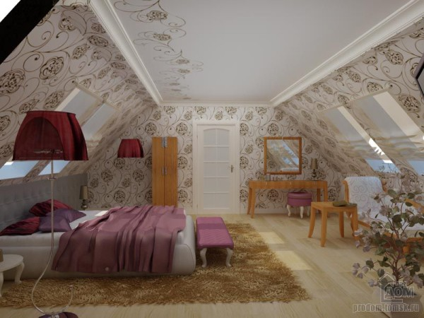 Трафаретная роспись в спальне