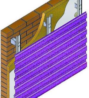 Установка металлических панелей