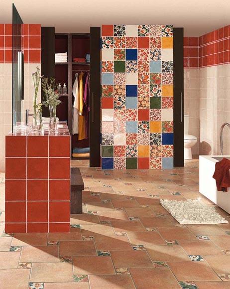 Ванная комната в стиле пэчворк