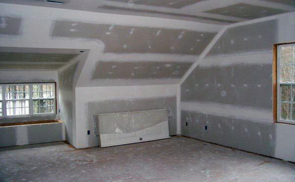 Внутренняя отделка при помощи гипсокартонной конструкции