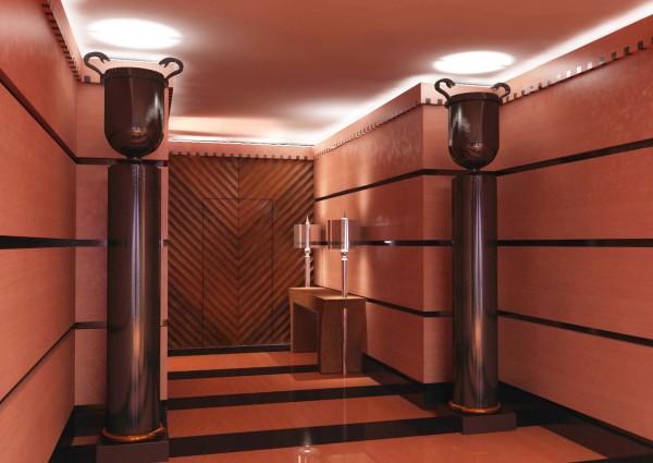 Декоративное окрашивание колонн