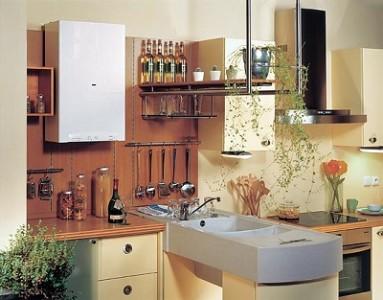 Если площадь позволяет, то и котел газовый до 30 кВт можно разместить на кухне