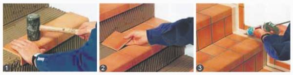 Этапы монтажных работ керамической плиткой