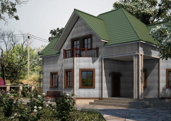 Фасад, облицованный базальтовым сайдингом