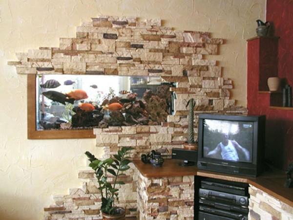Гипсовая плитка под декоративный камень