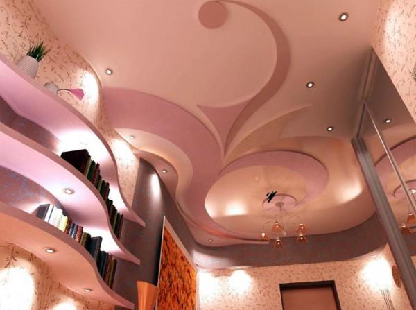 Идеи отделки потолка при помощи гипсокартона