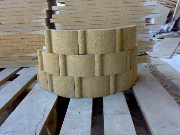 Искусственный камень для облицовки круглой колонны