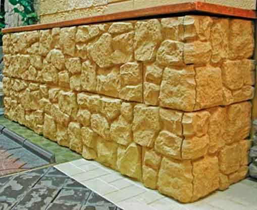 Искусственный камень для облицовки цоколя