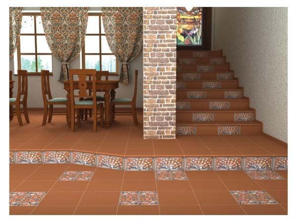 Напольное покрытие и облицовка лестницы из керамогранита