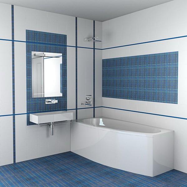 Напольное покрытие и облицовка стен в ванной комнате керамической плиткой майолика