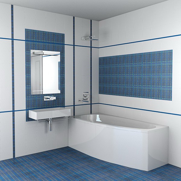Плитка на стену в ванной комнате своими