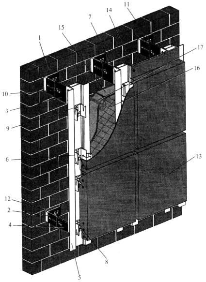Небольшой фрагмент фасада из типовой технологической карты системы FS-300