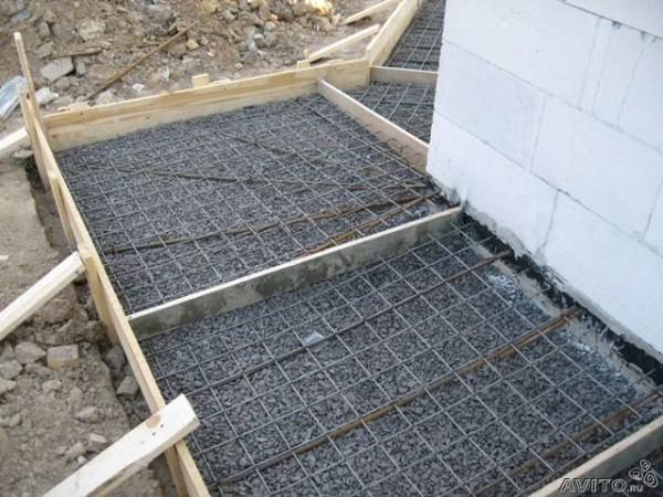 Опалубка для монолитной бетонной отмостки