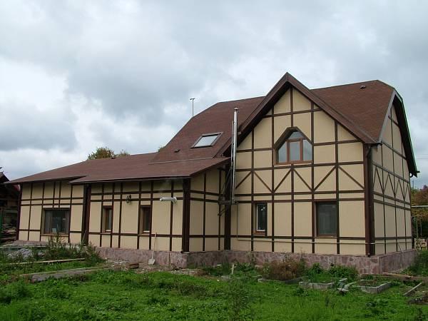 Отделка деревянного дома в стиле фахверк