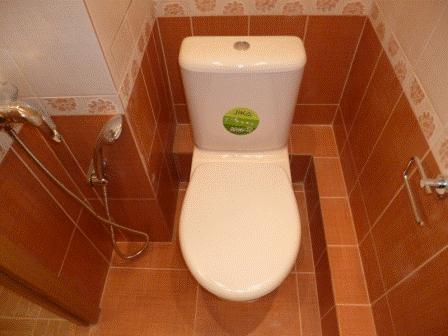 Отделка туалета керамической плиткой