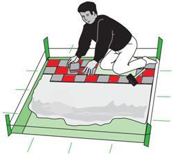 Подготовка поверхности и установка мрамора