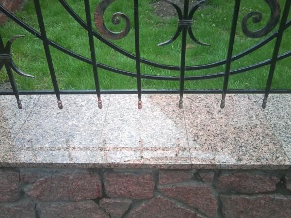Пример сочетания гранитной плитки