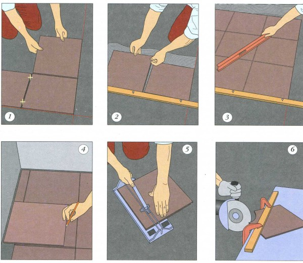 Способы монтажа и расчет плитки