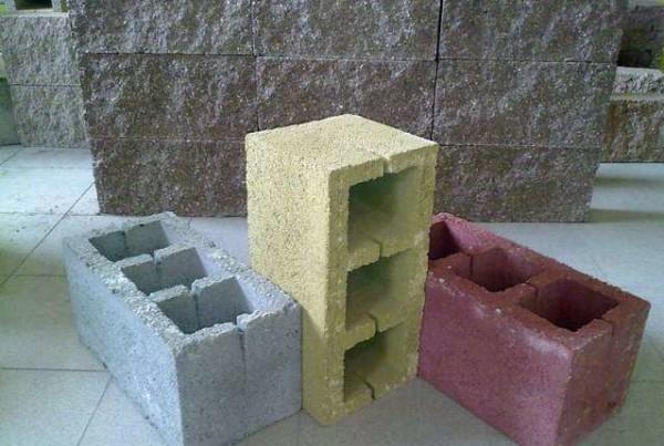 Цветные блоки из керамзитобетона