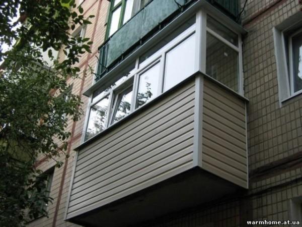 Наружная облицовка балкона профлистом