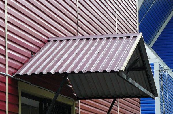 Облицовка фасада дома профнастилом