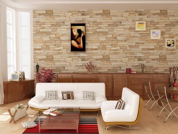Декоративный камень к отделке гостиной