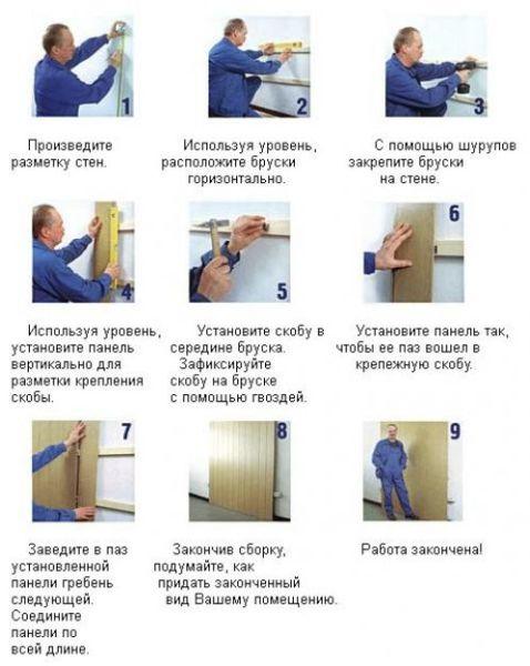 Этапы монтажных работ