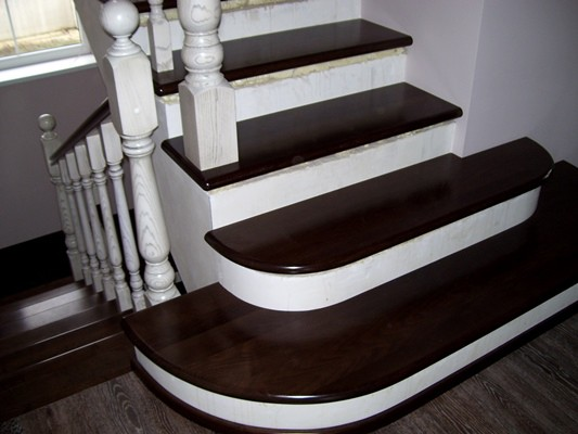 Как оформить бетонную лестницу