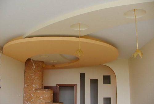 Оформление интерьера при помощи гипсокартонной потолочной конструкции