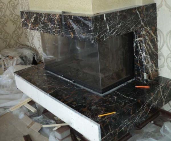 Преимущества отделки мраморными плитами