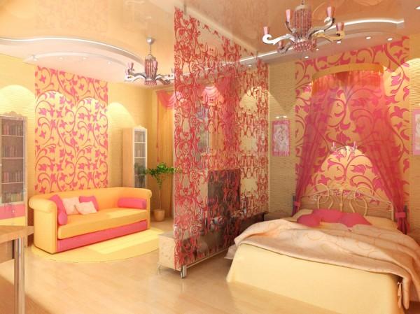 Пример зонирования спальни на 2-м этаже
