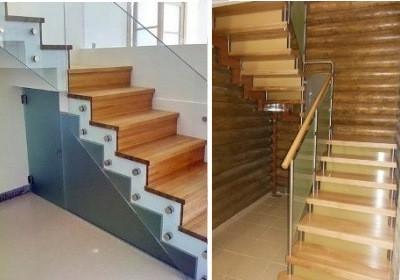 Пример деревянных ступеней
