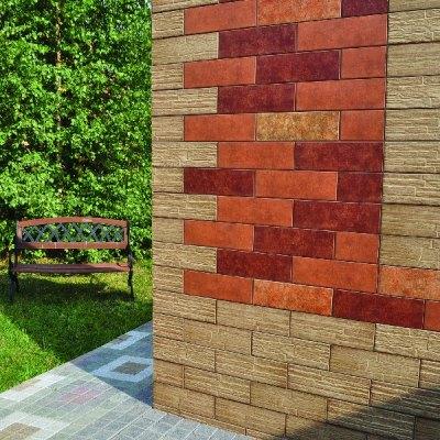 Керамическая плитка для облицовки фасада здания выпускается разных форм и размеров
