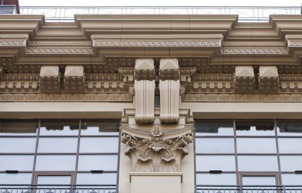 Облицовка фасада стеклофибробетон
