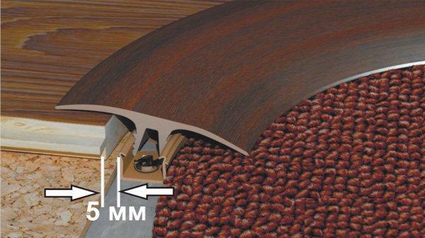 Оформление фигурной ступеньки из ламината