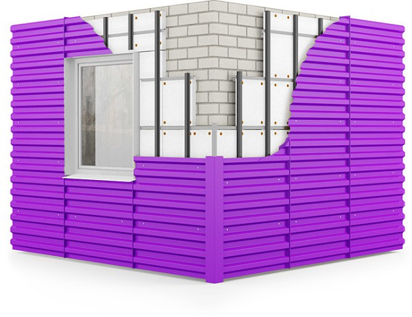 Вентилируемый фасад с профнастилом