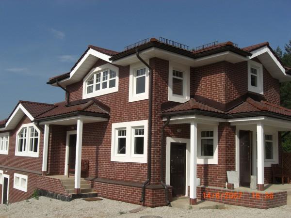 Фасад, облицованный клинкерными термопанелями