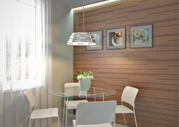 Облицовка стен на кухне панелями: ламинат