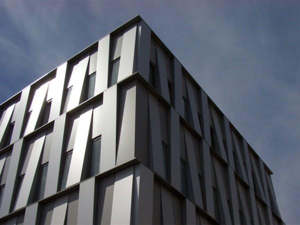 Пример облицовки алюминиевыми панелями