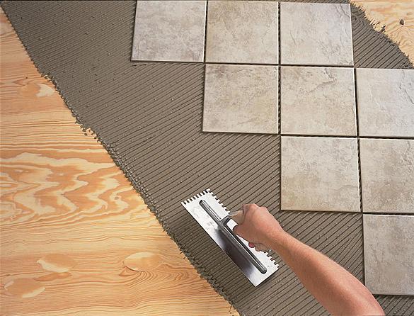 Установка керамической плитки по диагонали
