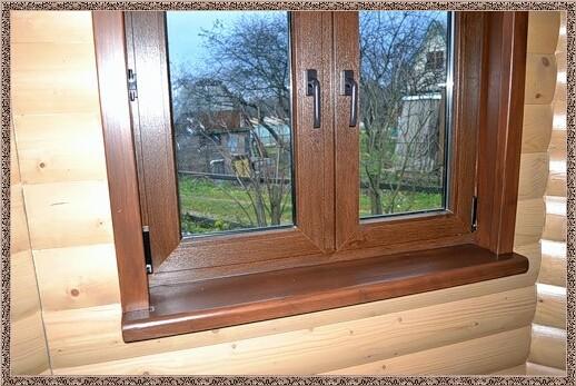 Деревянная окантовка окна