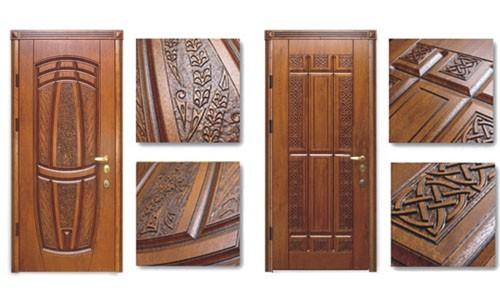 Фото дверей с накладками из массива дуба