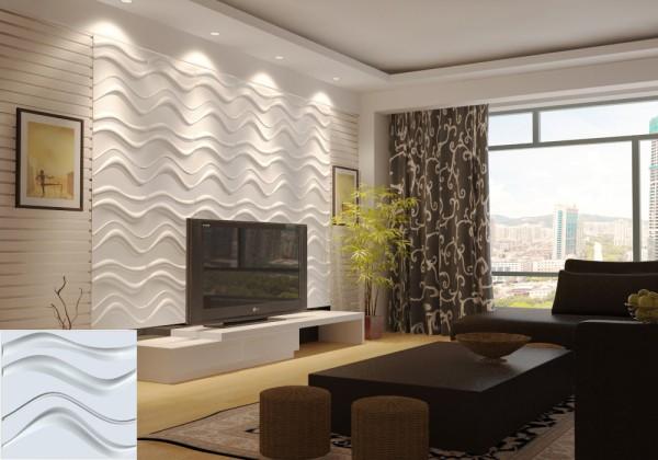Гипсовые облицовочные панели для комнаты